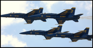 Blue Angels at Rochester International Air Show. July 16, 2011. Photo by Ken Mist. http://www.flickr.com/photos/37996606796@N01/5946455173/